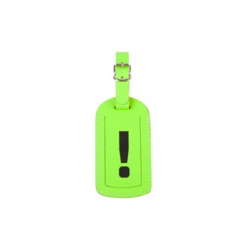 Luggage Tag '!' Neon Green