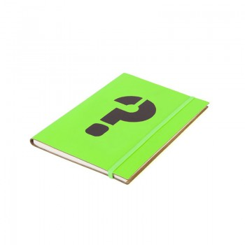 A5 Notebook '?' Neon Green