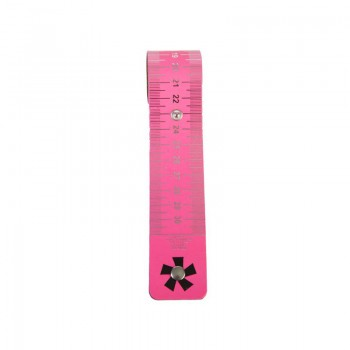 Roll-Out Ruler '*' Neon Pink